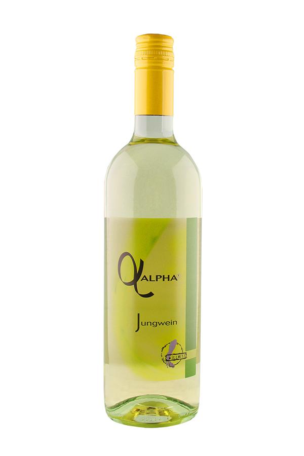 Weinflasche Alpha Jungwein vom Weingut Schwarzbauer