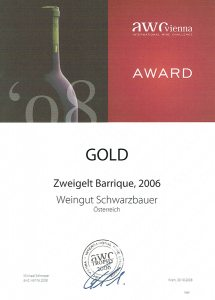 AWC Goldrmedaille 2008 - Weingut Schwarzbauer