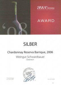 AWC Silbermedaille 2008 - Weingut Schwarzbauer
