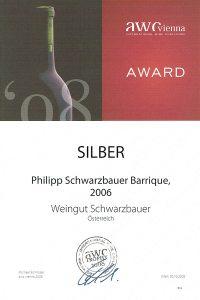 AWC Goldrmedaille 2008 - Philipp Schwarzbauer