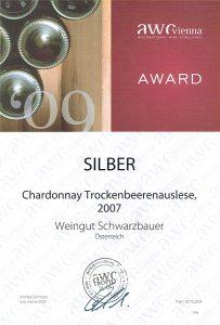 AWC Silbermedaille 2009 - Weingut Schwarzbauer