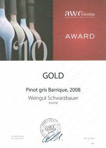 AWC Goldmedaille 2010 - Weingut Schwarzbauer