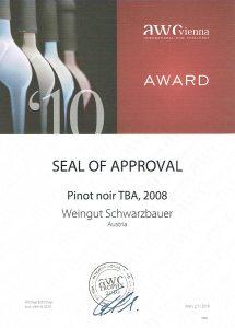 AWC Seal of Approvement 2010 - Weingut Schwarzbauer