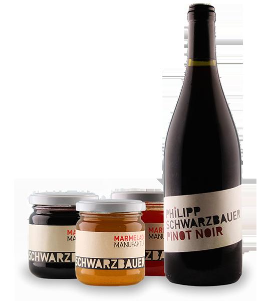 Wein und Marmelade