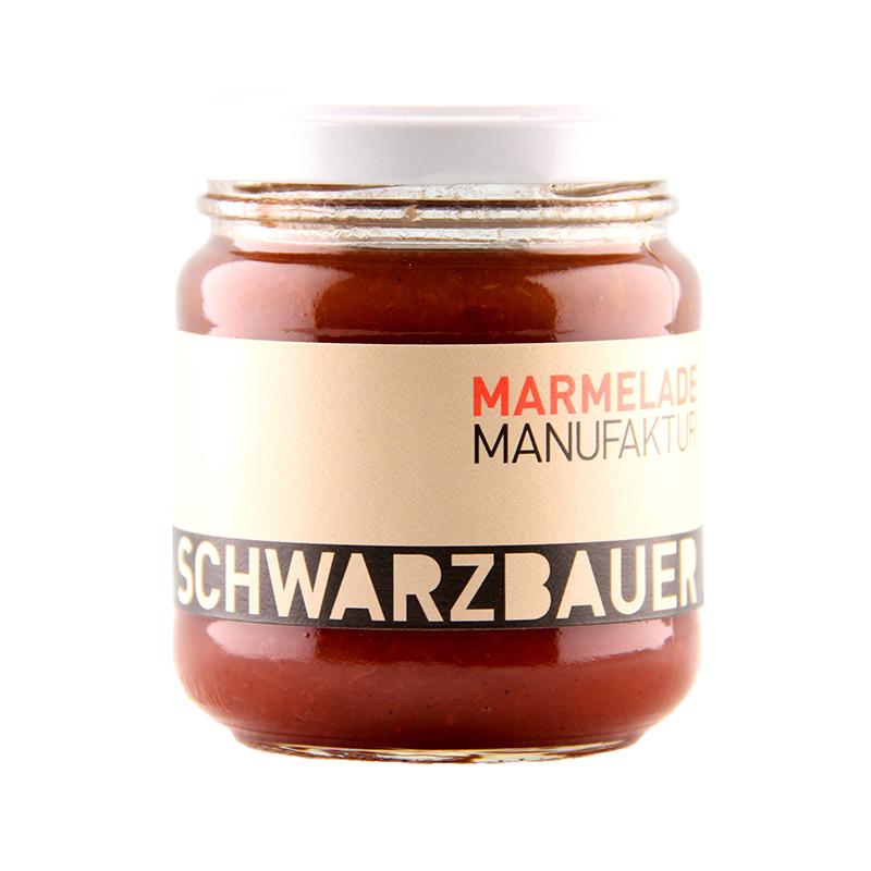 Erbbeer mit Vanille Fruchtaufstrich von der Marmeladen Manufaktur Schwarzbauer
