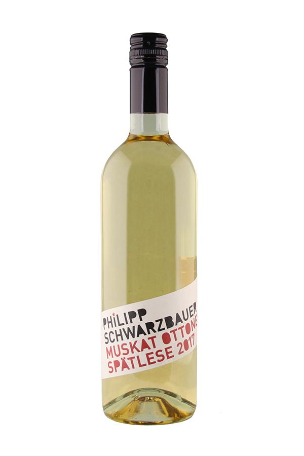 Weinflasche Muskat Ottonel Spätlese vom Weingut Schwarzbauer