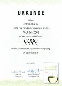 ÖGZ Verkostung 2011 - Weingut Schwarzbauer