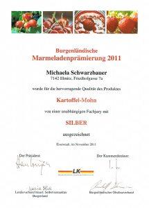 Silbermedaille Schwarzbauer Kartoffel-Mohn 2011