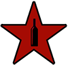 Weinflasche im Stern